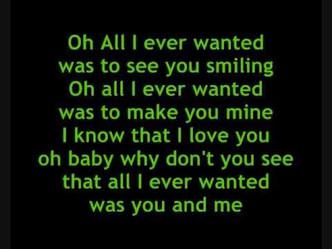 Lyrics of all i wanted