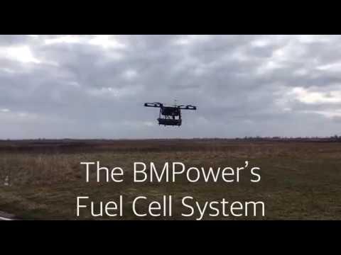 Сельхоз дрон на топливных элементах (3кВт). The AgroDrone With The 3kW Fuel Cells System.