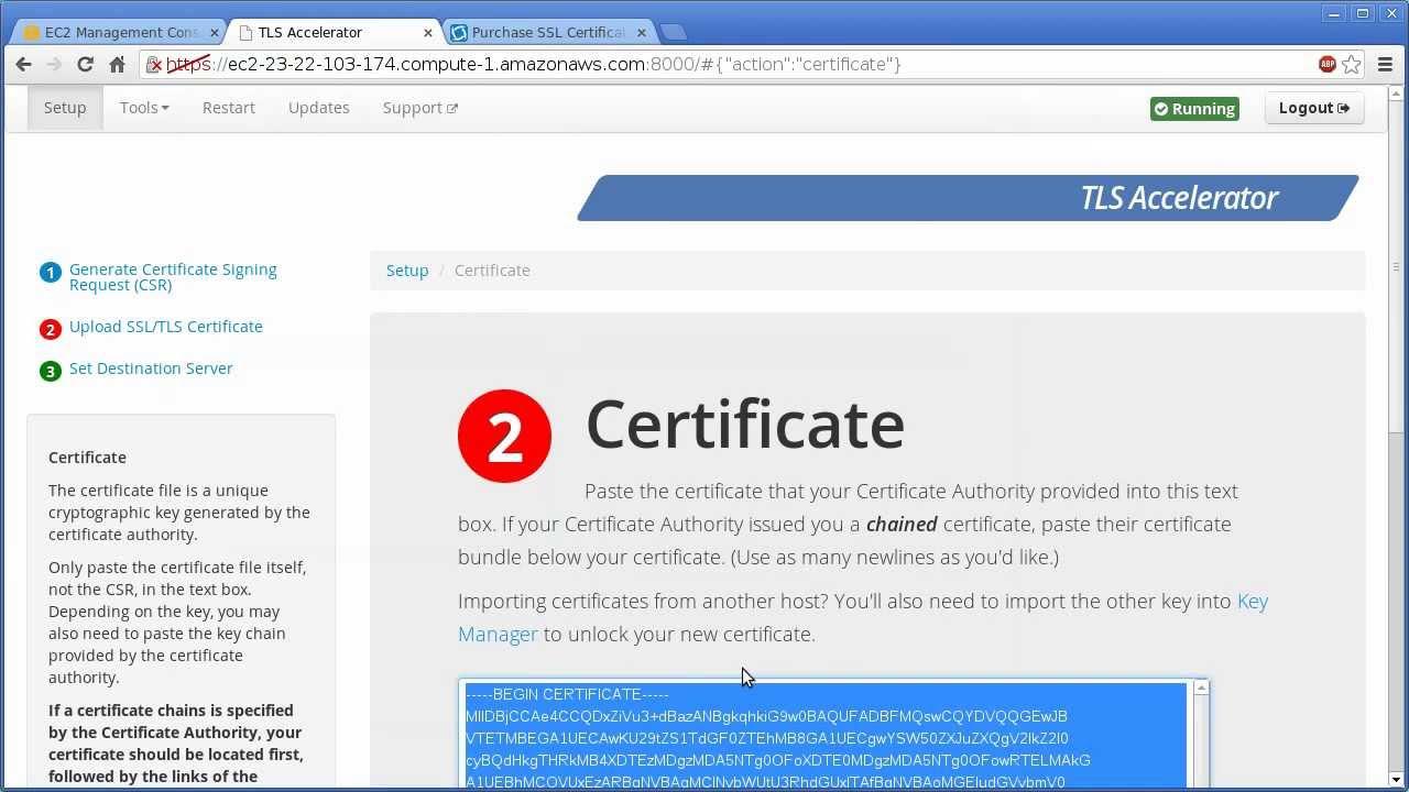 Tls Accelerator Walkthrough Purchasing An Ssl Certificate For Ec2