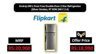 Godrej 240 L Frost Free Double Door 2 Star Refrigerator  (Silver Strokes, RT EON 240 C 2.4)
