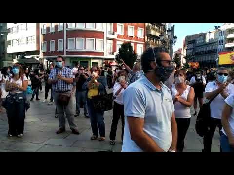 Concentración en favor de la sanidad pública en Vilagarcía