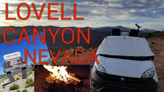 Campsite With A View Lovell Canyon, Nevada.Nation Forest Boondocking Amazing Views