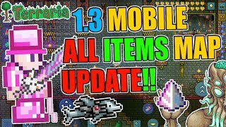 Terraria 1.3 Mobile ALL ITEMS WORLD UPDATE!! NOW With All NPC & Developer Items!!