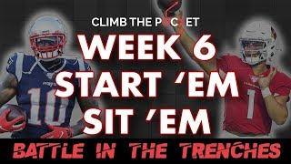 WEEK 6 START 'EM SIT 'EM FANTASY FOOTBALL