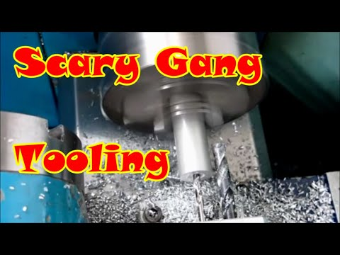 Scary Gang Tooling on benchtop cnc lathe for mobiles