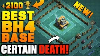 MOST EPIC BUILDER HALL 4 BASE w/ PROOF!! BEST BH4 ANTI 2 STAR BUILDER BASE!! - CLASH OF CLANS (COC)