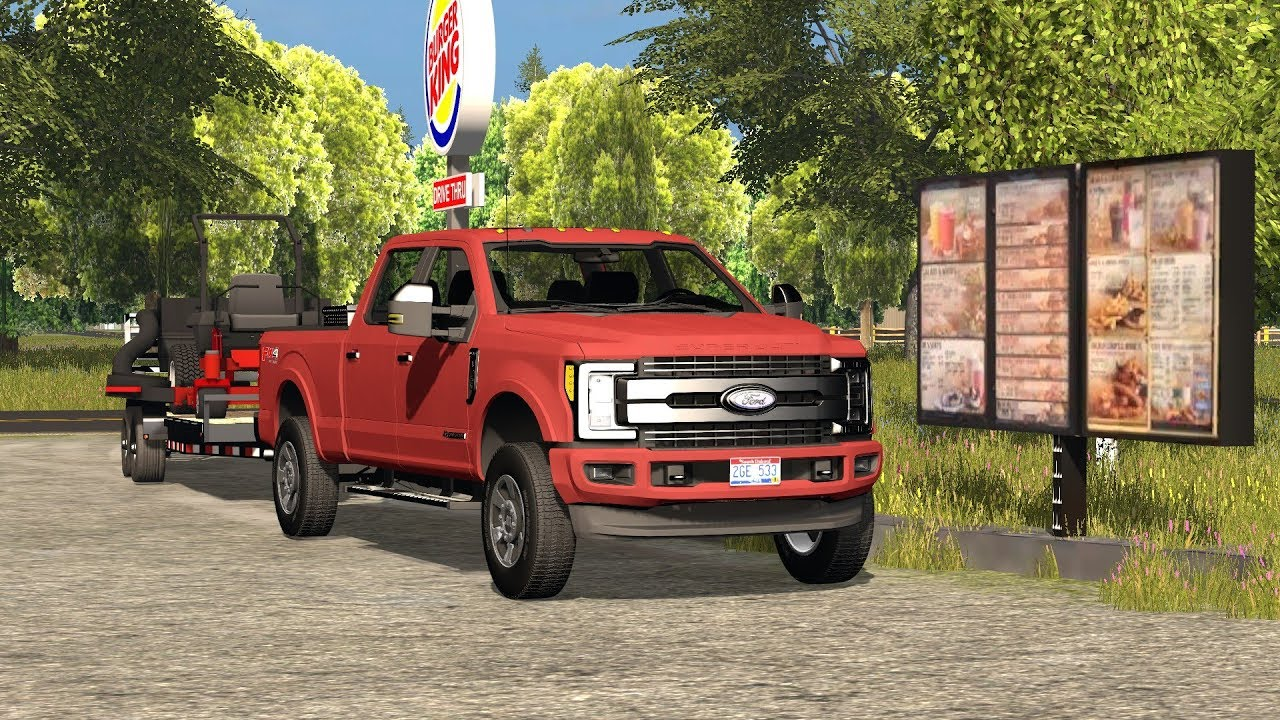 Farming simulator 17| fall clean up | f-350 king ranch ...