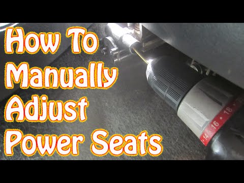 DIY How to Manually Adjust Power Seats in a GMC Chevy Vehicle Blazer Jimmy S10 Silverado Sierra