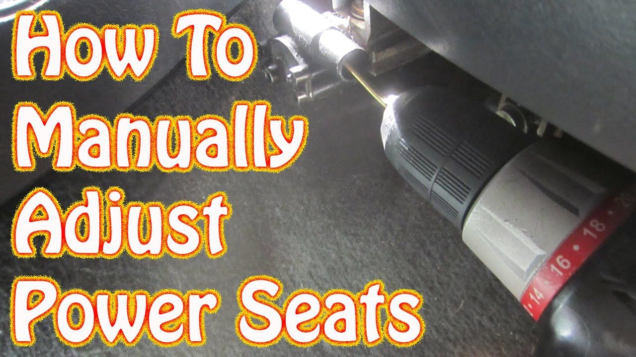 DIY How to Manually Adjust Power Seats in a GMC Chevy Vehicle Blazer Jimmy S10 Silverado Sierra