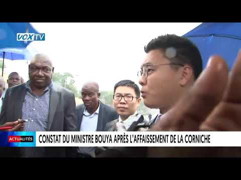 Corniche de Brazzaville, le constat amer de Jean-Jacques Bouya ministre des grands travaux