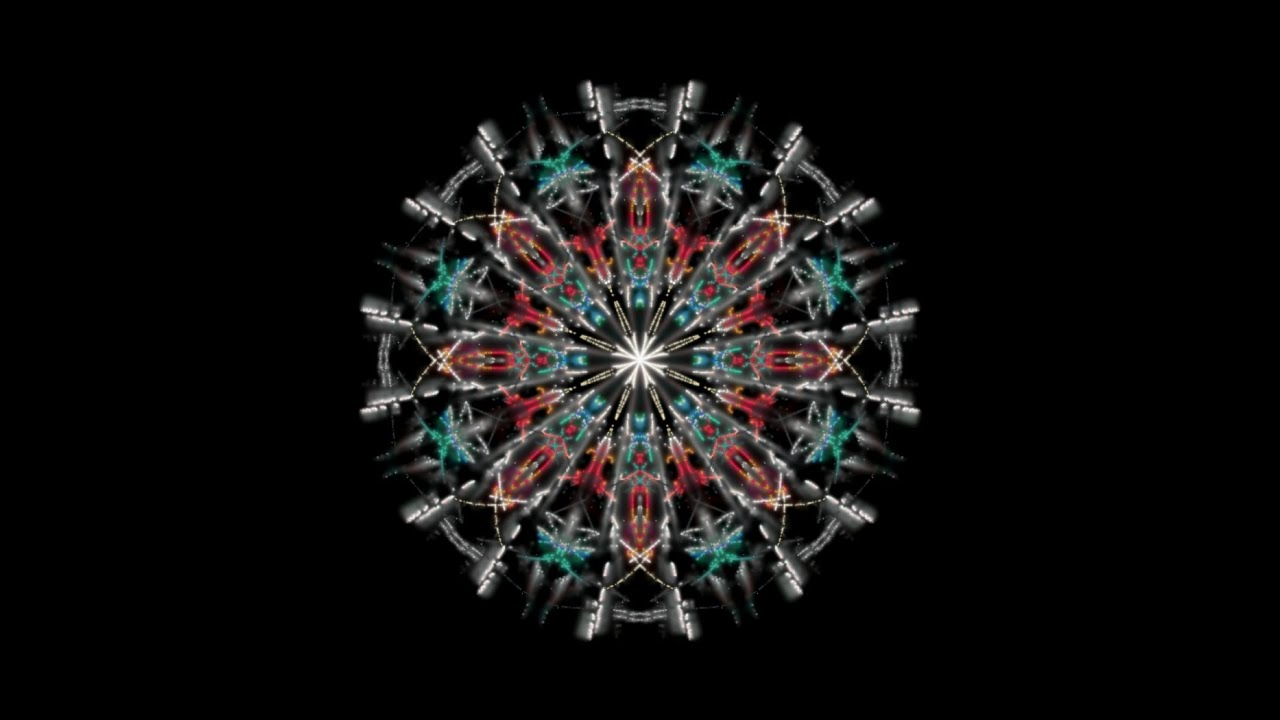 Trippy Kaleidoscope Mandala Youtube
