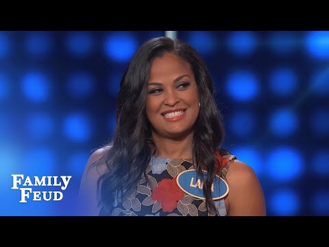 Thumbnail: Laila Ali Vs Ronda Rousey? Steve WANTS TO KNOW!!! | Celebrity Family Feud | OUTTAKE
