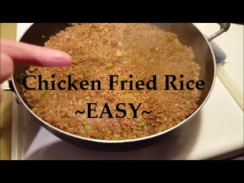 😋🍴 Making EASY Chicken Fried Rice and Vlog-style
