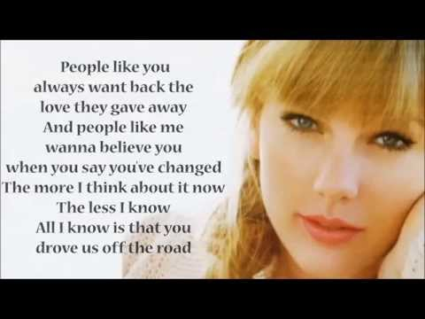 Taylor Swift - All You Had To Do Was Stay [Lyric Video]