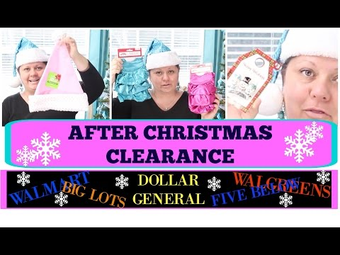 AFTER CHRISTMAS CLEARANCE HAUL | FIVE BELOW - BIG LOTS - DOLLAR GENERAL - WALGREENS - WALMART