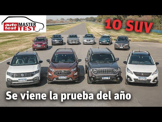 Se viene el MASTER TEST: 10 SUV a examen