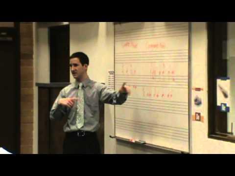 Teaching a high school class about music