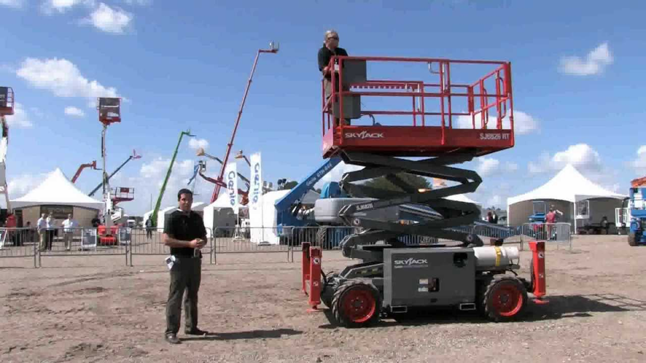 maxresdefault product review skyjack sj6826 rt scissor lift youtube skyjack sj7027 wiring diagram at bayanpartner.co
