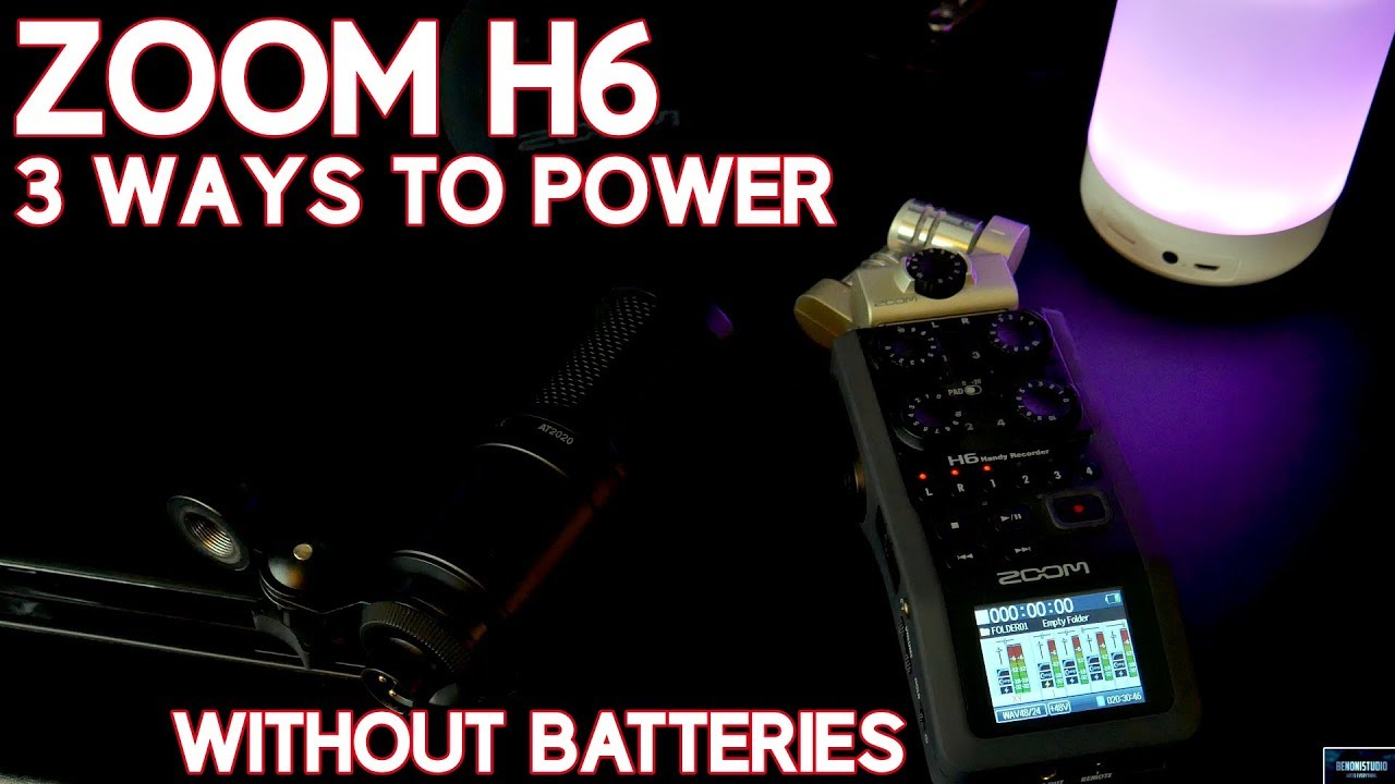 ZOOM H6 | 3 WAYS TO POWER WITHOUT BATTERIES