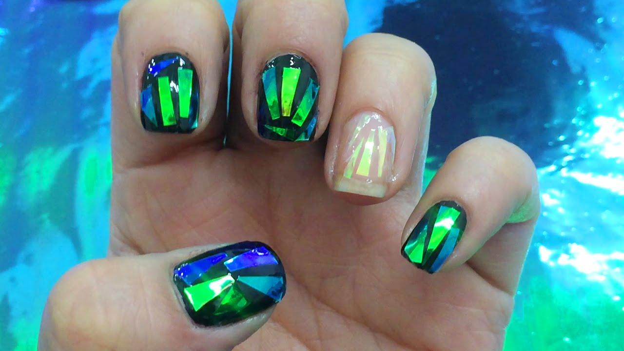Decoracion De Uñas Efecto Vidrio Shattered Glass Nails