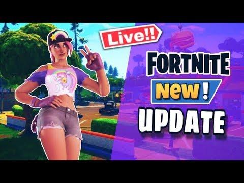 Fortnite Live New Update // Greasy Grove Back // Tac Smg Back Season 10