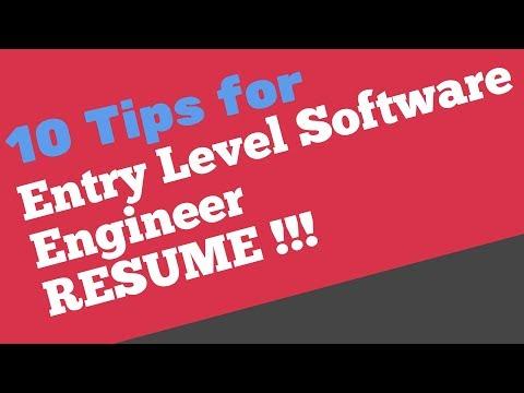 Entry Level Software Engineer Resume   Cv For Software Engineer