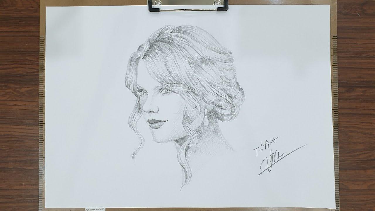 Vẽ Taylor Swift bằng bút chì