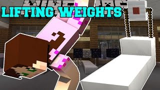 Minecraft: LIFTING WEIGHTS (PULL UPS, TREADMILL, PUNCHING BAG, & MORE!) Custom Command