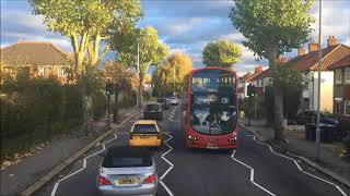 FULL ROUTE VISUAL | London Bus Route X26 - Heathrow Airport to West Croydon | WHV46 (BP15OLU)