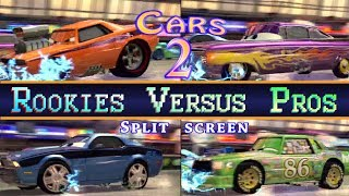 Cars 2 Rookies Versus Pros 4 Player Showdown Chick Hicks Dominates Everyone