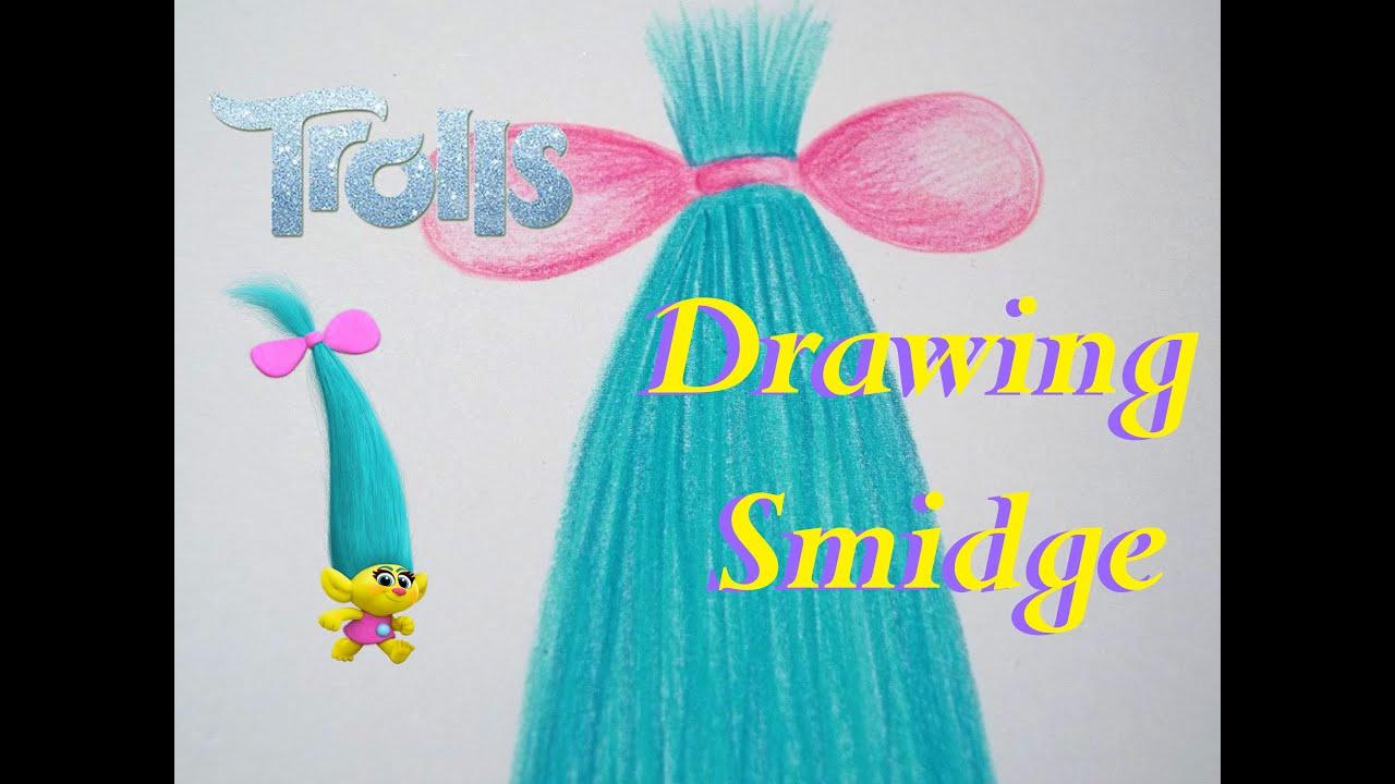 how to draw trolls smidge