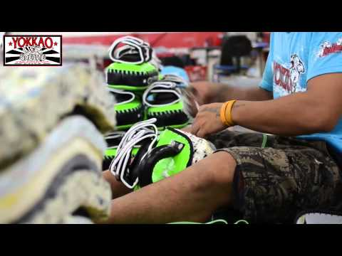 YOKKAO Muay Thai Kicking Pads - Muay Thai Gear Bangkok - Muay Thai Factory