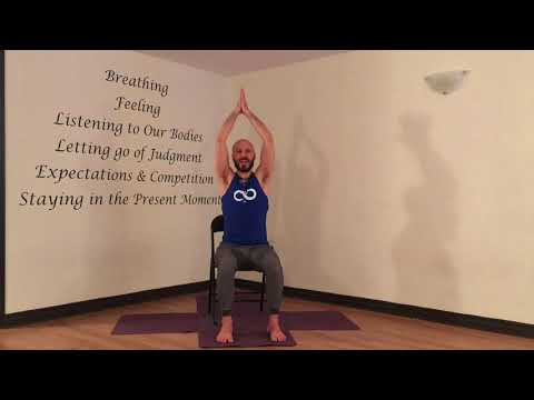 YogaFit Canada Master Trainer Paul Galloro Shares a Simple Chair Yoga Sequence