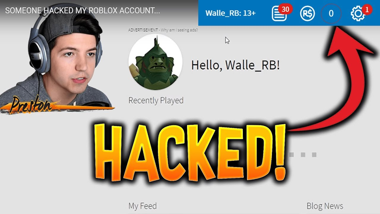 PrestonPlayz HACKED MY ROBLOX ACCOUNT! Stole My Robux!