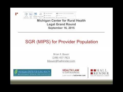 SGR (MIPS) for Provider Population