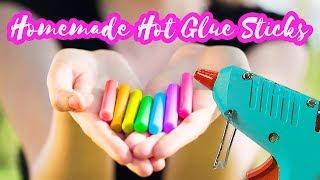 DIY Colorful Hot GĮue Sticks Tutorial   How to make your own hot glue sticks   DIY Craft Tutorials