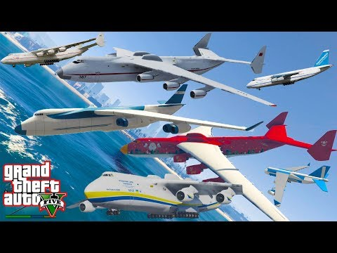 GTA V Cargo Plane Santaplane and Antonov An-225 Falling to Sea / Water Crash and Fail Compilation