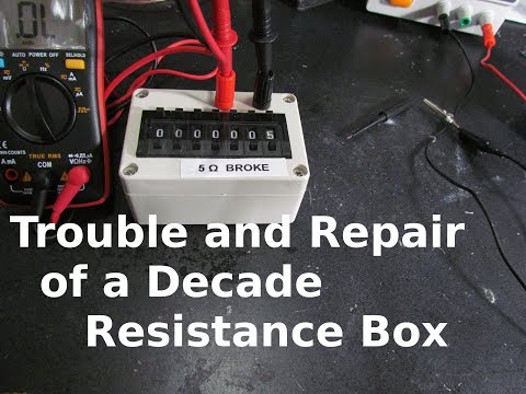 Trouble and Repair of A Decade Resistance Box