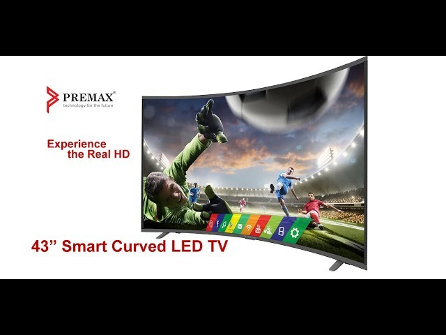 Premax PM-LED2043-CS Smart Curved LED TV http://www.premax.ae