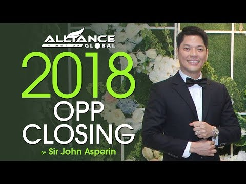 New 2018 OPP Closing by Sir John Asperin (AIM Global CMO)