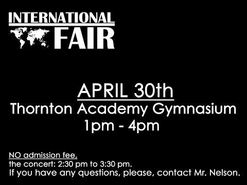 Thornton Academy. International Fair