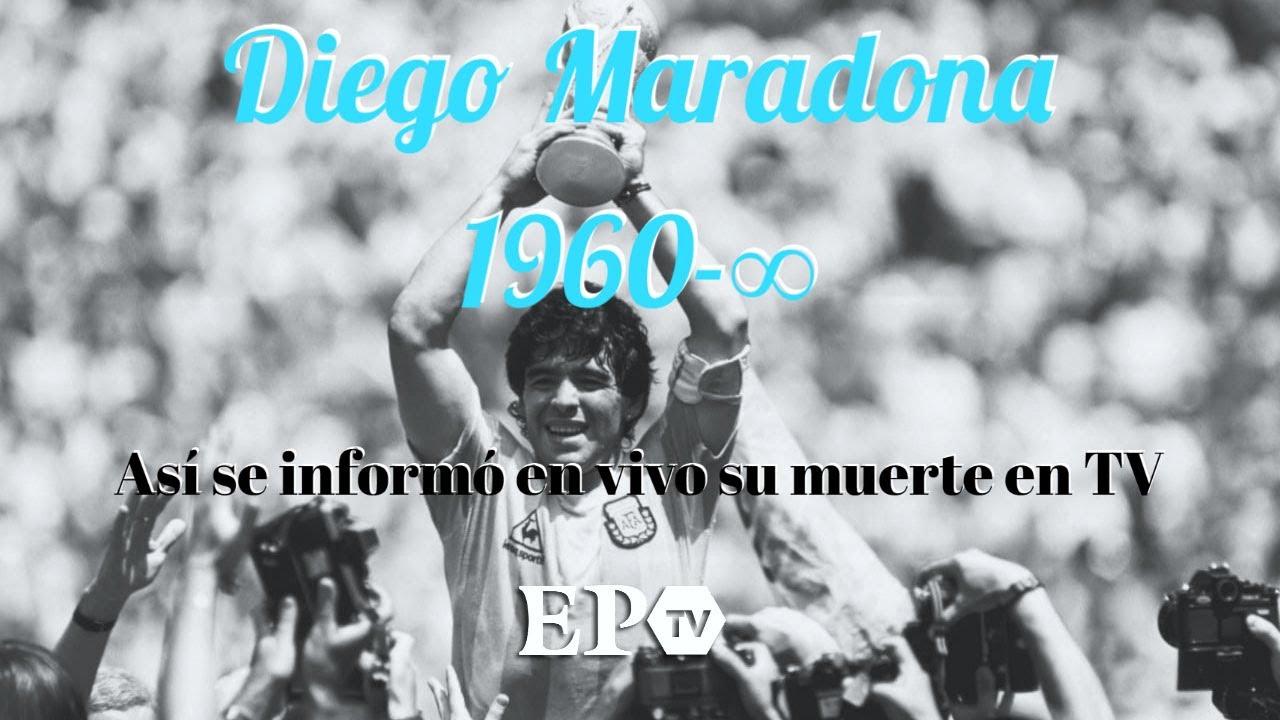 Murió Diego Maradona: el momento en que se informó la noticia en la TV argentina
