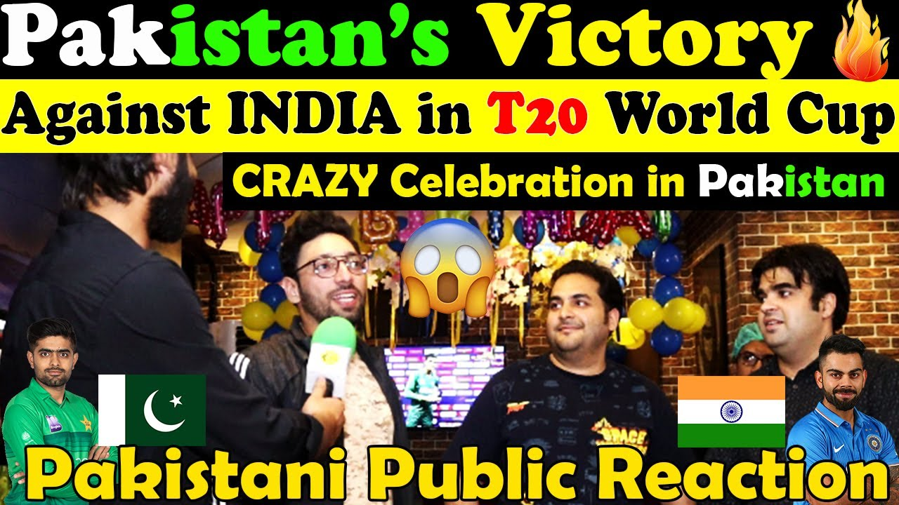 Download PAKISTAN Victory Against INDIA in T20 World Cup (Crazy Celebration) | Pakistani Public Reaction