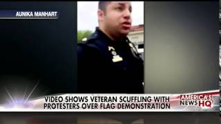 Former Playboy Model & Veteran Gets Tackled & Arrested For Trying To Protect American Flag