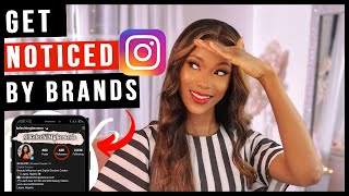 How To Get Brands To Notice You On Instagram As a Micro Influencer | Get Paid By Brands On Instagram