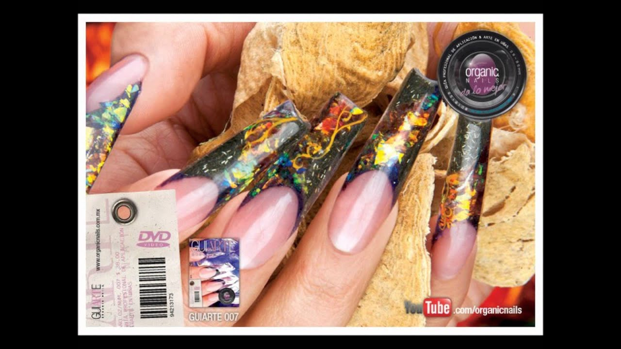 Organic Nails Private collection 2. - YouTube
