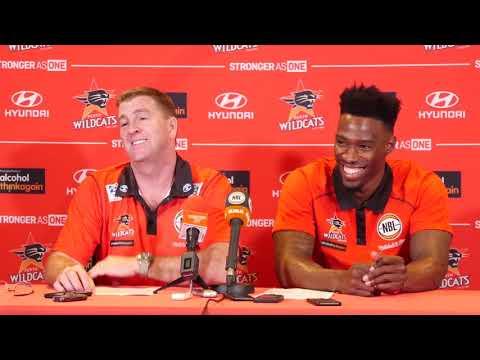 Perth Wildcats - Trevor Gleeson and Derek Cooke Jr. Press Conference - 20 October 2017