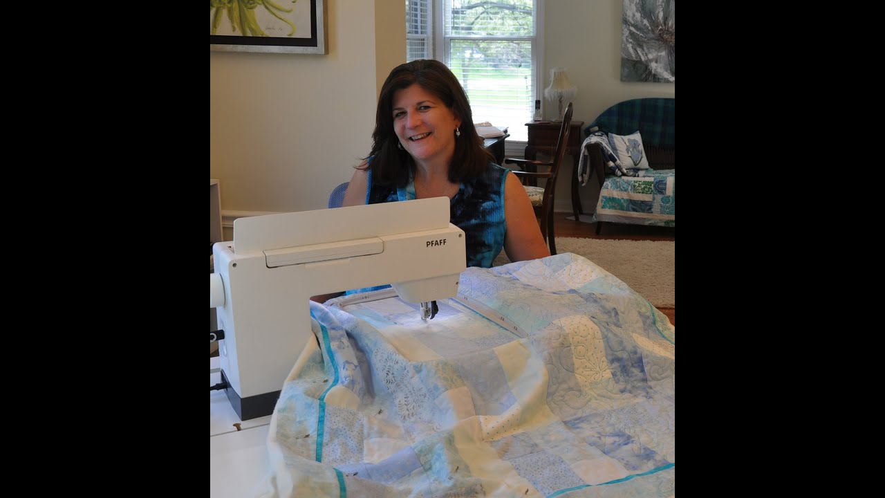 Edge to Edge Quilting with Embroidery Machine - YouTube : embroidery quilting machine - Adamdwight.com