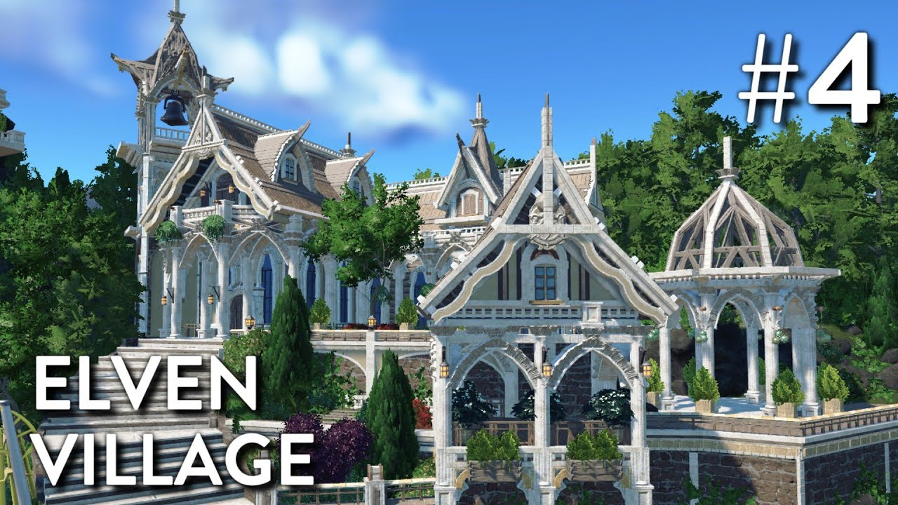 Castle House Plans Planet Coaster Alfheim Part 4 Elven Village Youtube