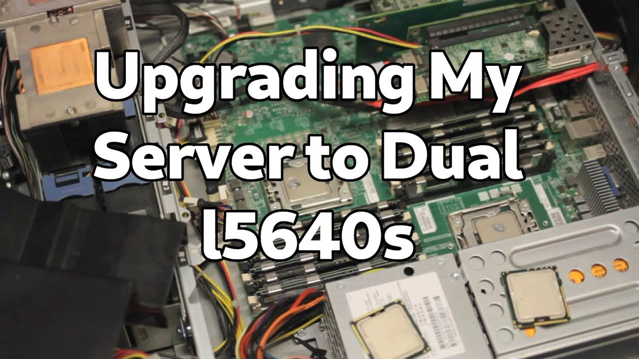 upgrading the CPUs in my server to L5640's